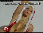 Hot blonde Santa costume