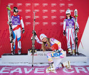 Lindsey Vonn Tebowing After a Skiing Victory x 2 HQ